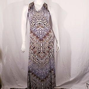 London Times Bohemian Pattern Maxi Dress size 10
